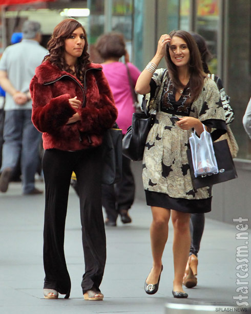 Farrah Abraham attends Mercedes Benz Fashion week in New York with a friend
