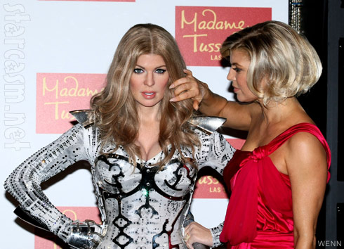 Fergie and her waxwork at Madame Tussauds wax museum
