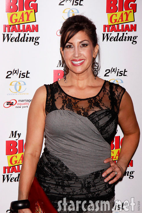 Real Housewives of New Jersey star Jacqueline Laurita at My Big Gay Italian Wedding