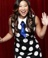 Glee Season 3 cast yearbook photo of Tina Cohen-Chang played by Jenna Ushkowitz