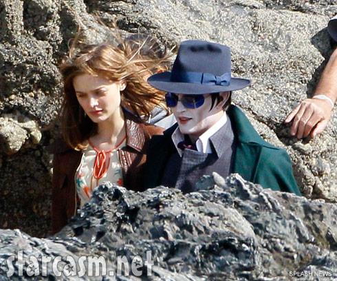 Johnny Depp as Barnabas Collins on the set of Dark Shadows