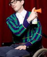 Glee Season 3 cast yearbook photo of Artie Abrams played by Kevin McHale