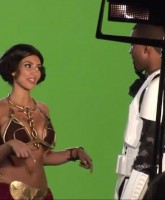 Kim Kardashian in a sexy slave Leia Princess Leia costume