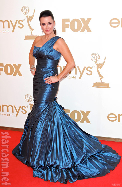 Kyle Richards on the red carpet at the 2011 EMMY Awards