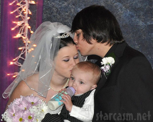 16 and Pregnant Megan McConnell Stone wedding photo with Nathan Stone