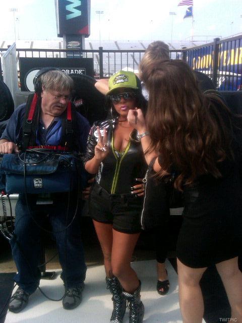 Snooki attends a NASCAR race on September 10 2011
