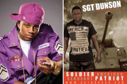 Rappers Soulja Boy and Sgt. Dunson