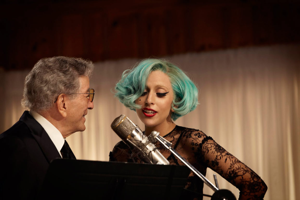 Tony Bennett and Lady Gaga record The Lady Is a Tramp for his Duets II album