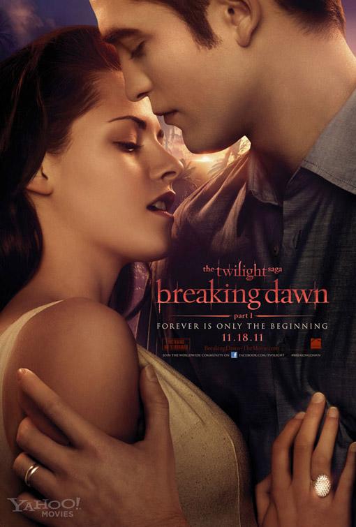 Twilight Saga Breaking Dawn Part I movie poster with Kristen Stewart and Robert Pattinson