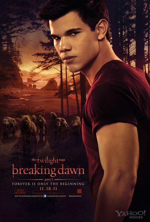 Twilight Saga Breaking Dawn Part 1 movie poster with Taylor Lautner as Jacob Black