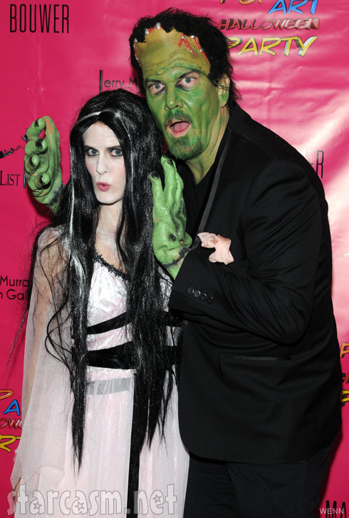 Alex McCord and Simon van Kempen in Frankenstein and Bride of Frankenstein costumes