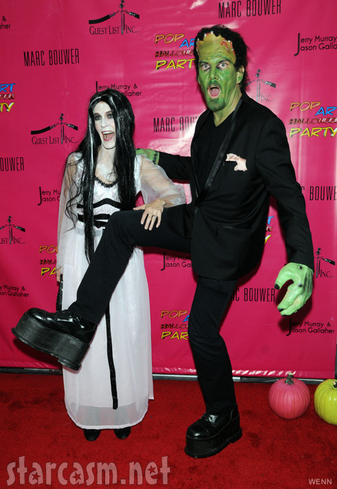 Alex McCord and Simon van Kempen in Munsters Halloween costumes