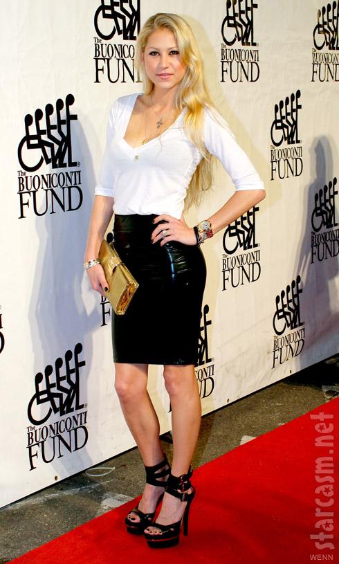 Biggest Loser's Anna Kournikova in a sexy black miniskirt