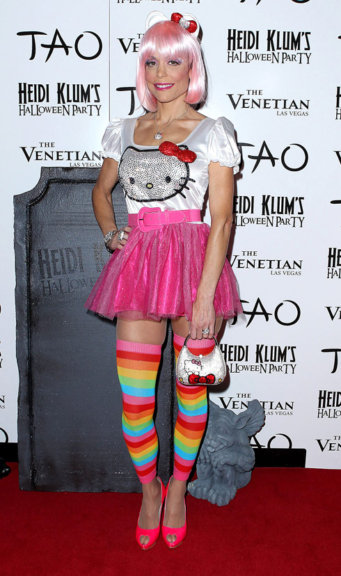 Bethenny Frankel in her Hello Kitty Halloween costume