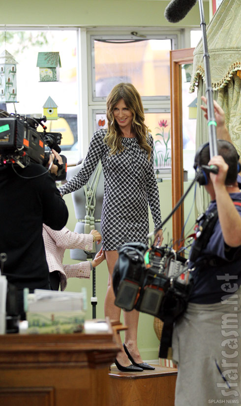 Real Housewives of New York City new cast member Carole Radziwill filming Season 5