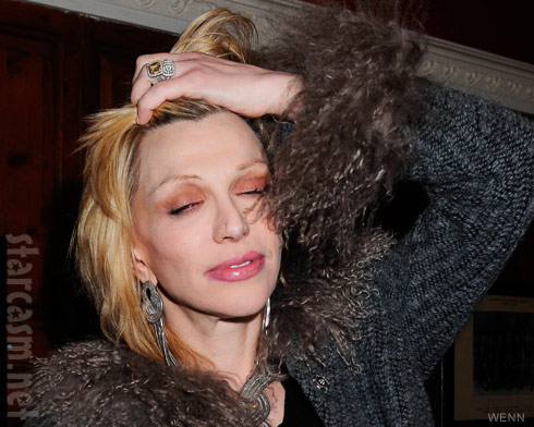 Courtney Love appeared a bit drunk or trashed at Trinity College event in Dublin Ireland