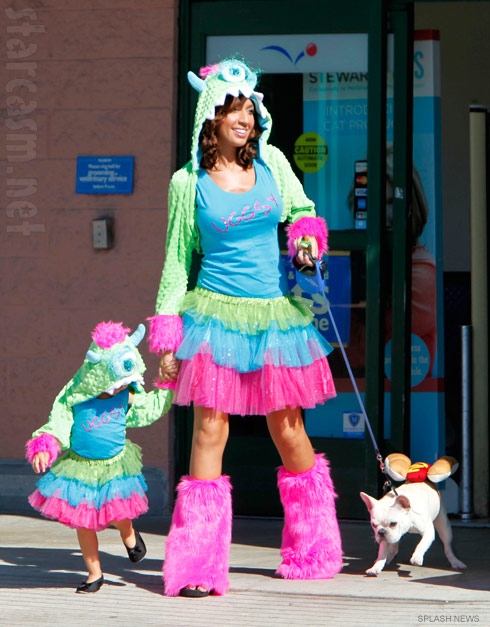 Teen Mom Farrah Abraham and daughter Sophia wearing matching Uggsy costumes