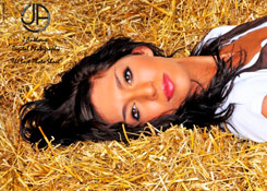 Teen Mom Farrah Abraham takes a roll in the hay for J Anthony Digital Photography