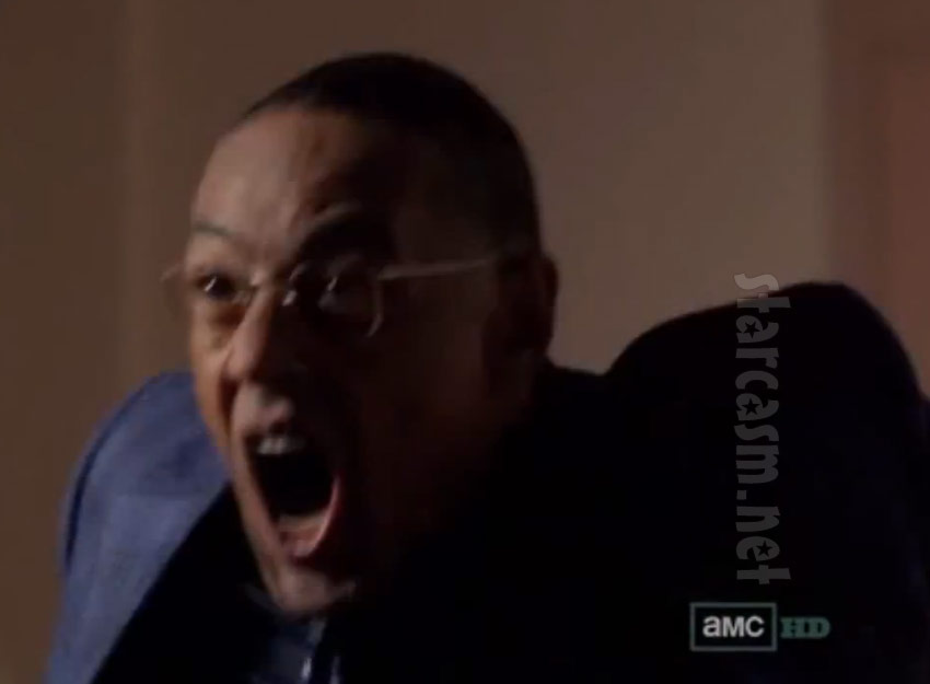 Gustavo Fring screams before his death
