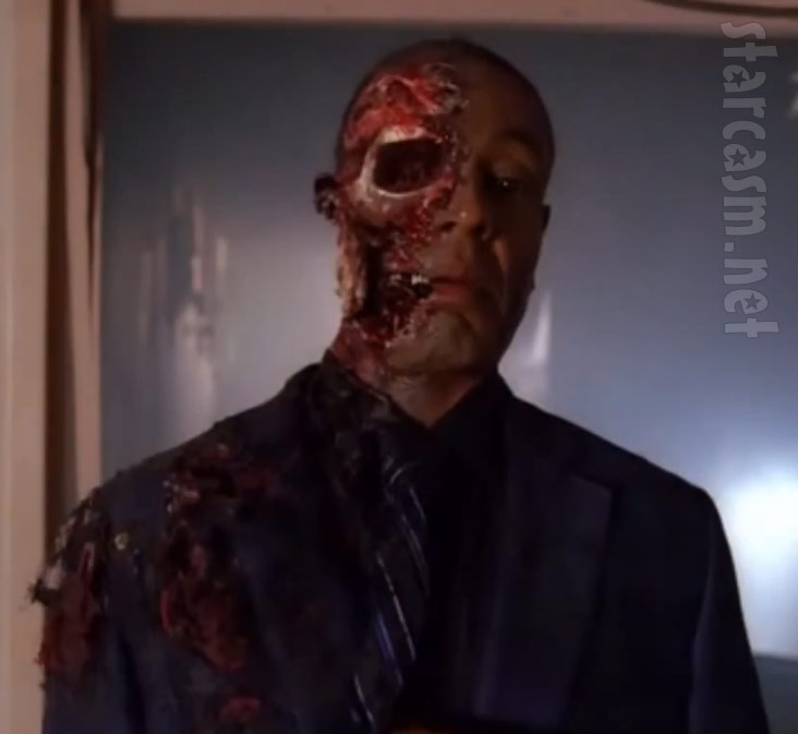 Gus Fring loses half his face in Season 4 finale