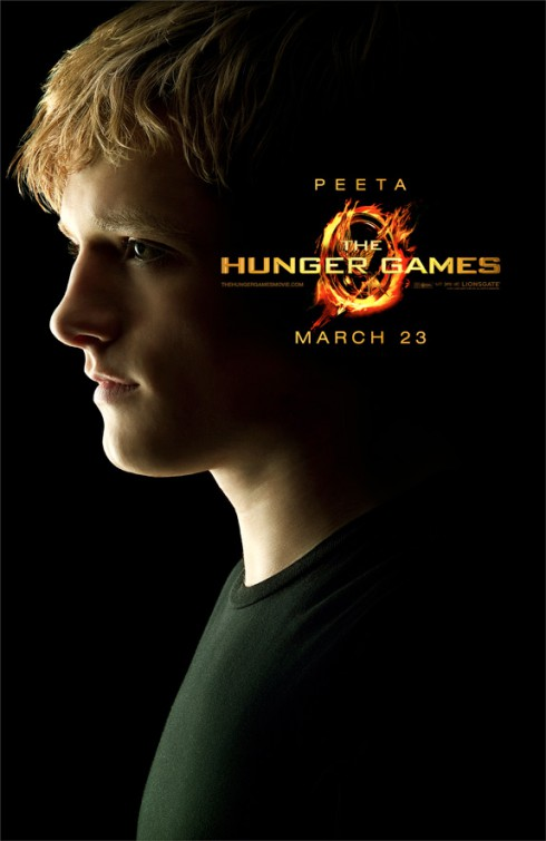Character poster for Peeta Mellark from The Hunger Games played by Josh Hutcherson