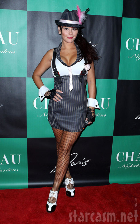 JWoww in a sexy Halloween costume for the Pimp n Ho Ball in Las Vegas 2011