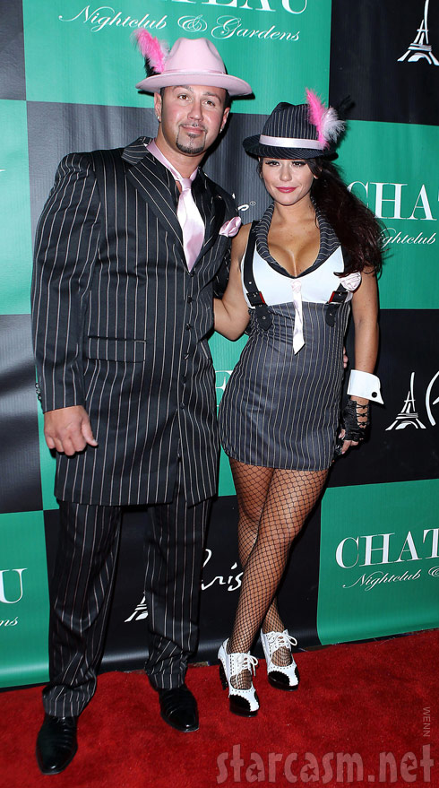 JWoww with boyfriend Roger Matthews in costumes at the 2011 Pimp n Ho Ball