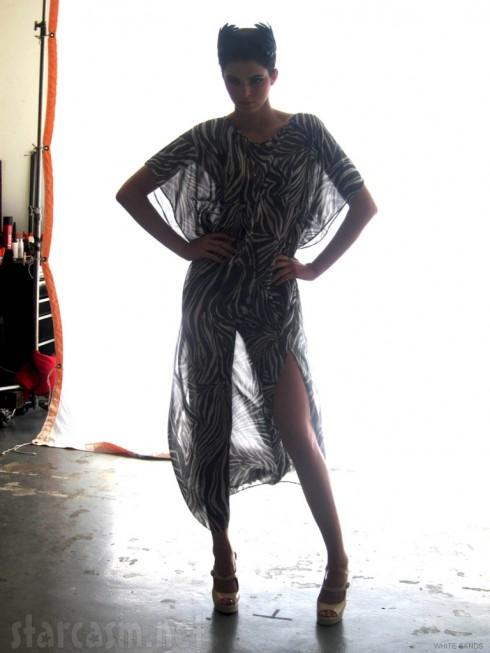 Kardashian sister Kendall Jenner poses for White Sands 2012 swimwear line