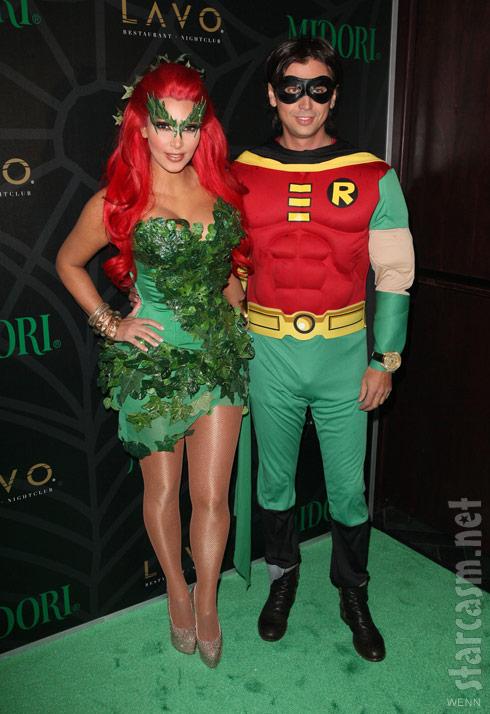 Kim Kardashian as Poison Ivy and Jonathan Cheban as Robin