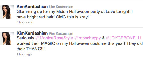 Kim Kardashian tweets about her Poison Ivy costume