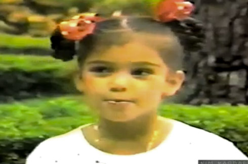 Childhood picture of Kim Kardashian from 1984