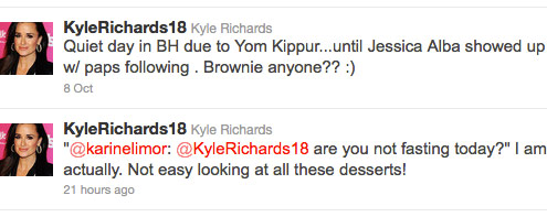 Ktle Richards tweets about fasting for Yom Kippur during her daughter's cahrity bake sale
