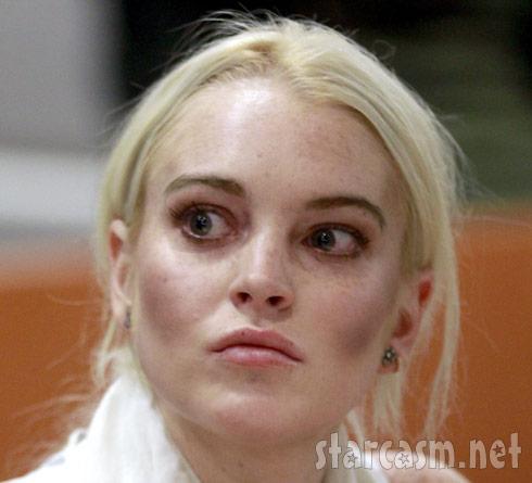 Lindsay Lohan in LA courtroom