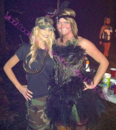 Teen Mom Maci Bookout in a G.I. Jane Halloween costume