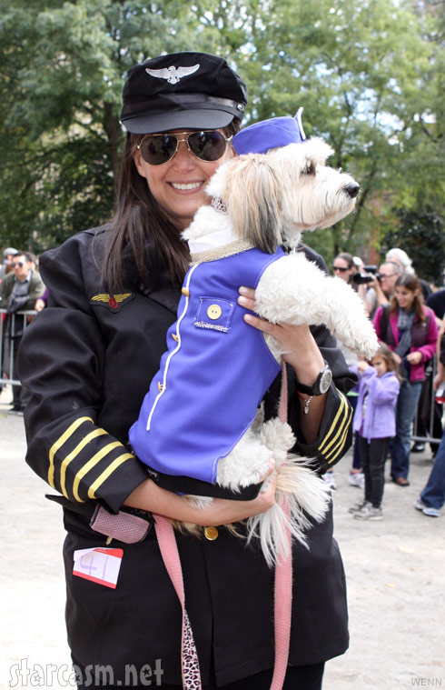 Dog in a Pan Am stewardess costume 2011 Tompkins Square Park Halloween Dog Parade