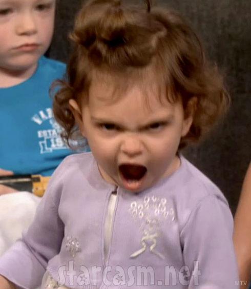 Farrah's daughter Sophia Abraham shows her monster face during Teen Mom Reunion