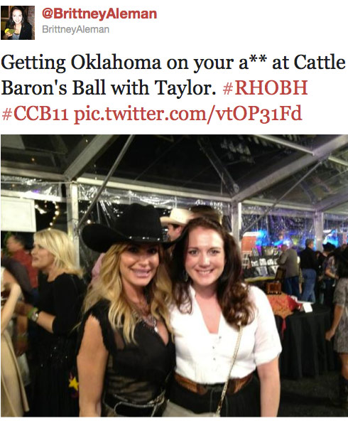 Brittney Aleman with Taylor Armstrong at the Cattle Barons Ball