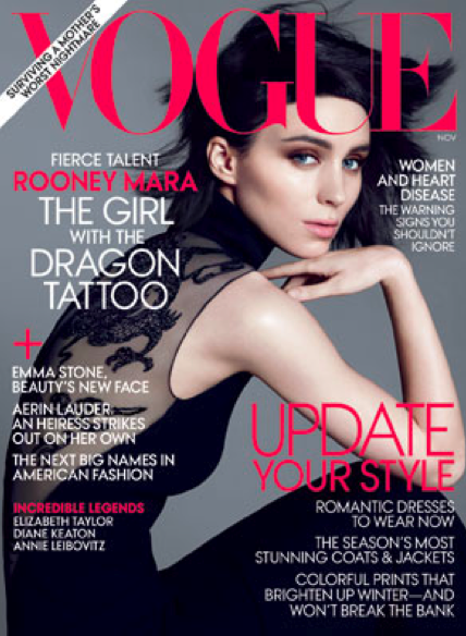 Girl with the dragon tattoo cover rooney mara lisbeth salander