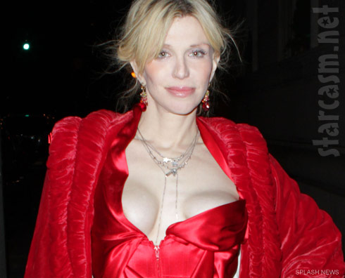 Courtney Love's breasts appear to be ummm slightly askew