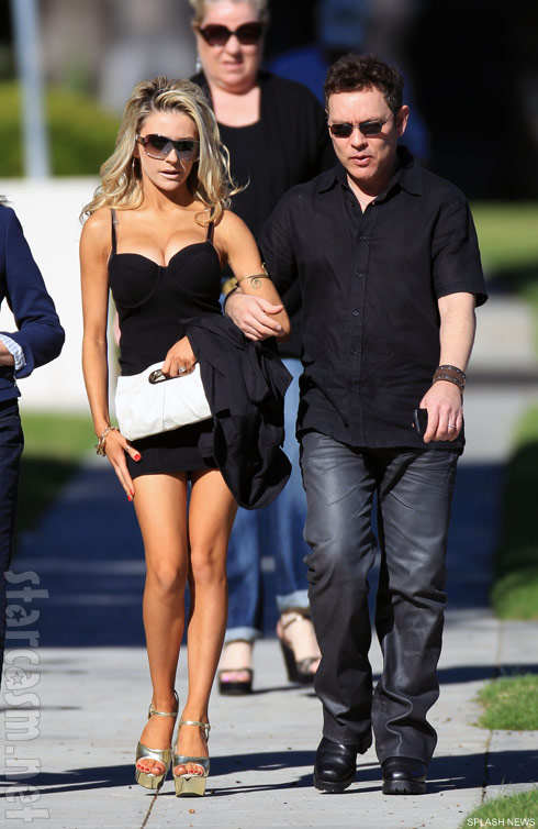 Courtney Stodden and husband Doug Hutchinson attend church in Los Angeles