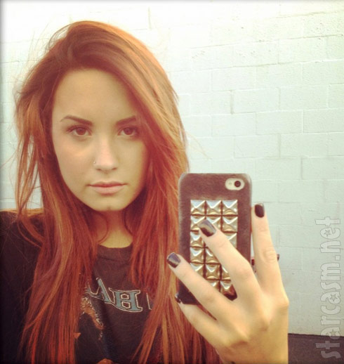 Demi Lovato photo with red hair