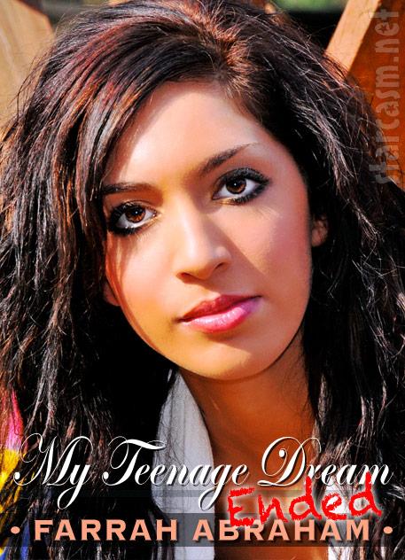 Teen Mom Farrah Abraham alternate book cover My Teenage Dream Ended