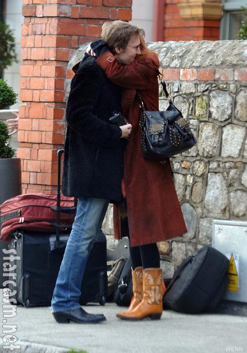 David Rawlings hugs Gillian Welch in Dublin, Ireland