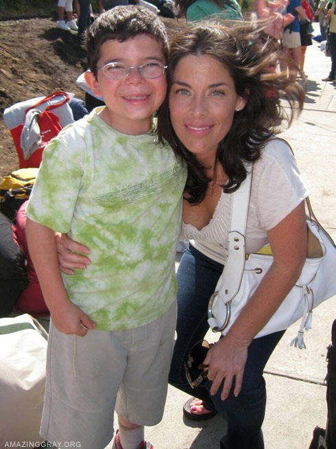 Slade SMiley's son Grayson with his mother Michelle Arroyo