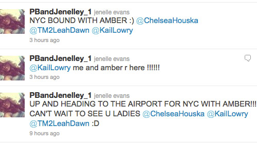 Teen Mom Jenelle Evans tweets about her trip to New York City November 2011