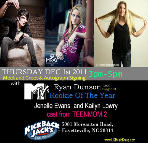 Teen Mom 2 stars Jenelle Evans and Kailyn Lowry appearing at Kickback Jack's together