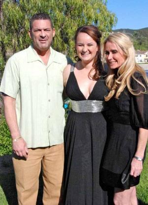 Kim Richards with her boyfriend Ken Blumenfeld and his daughter Gaby Blumenfeld