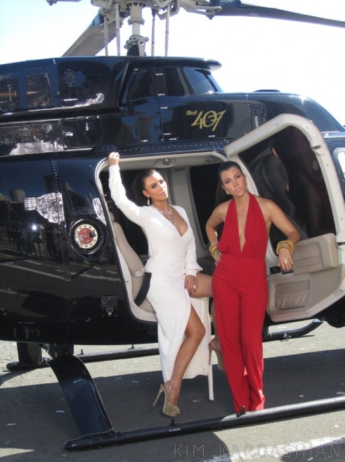 Kim Kardashian sex tape with a helicopter and sister Kourtney Kardashian
