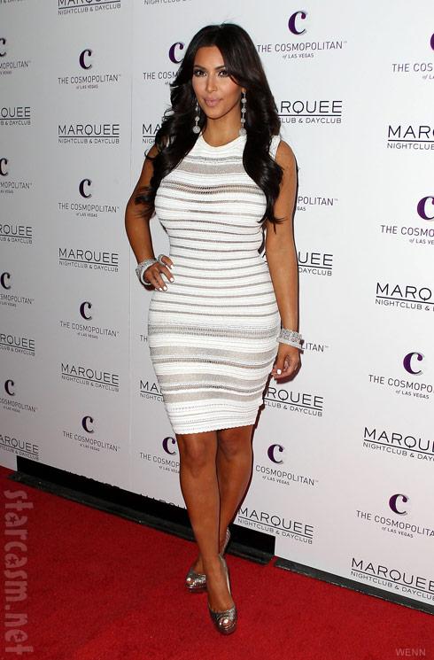 Kim Kardashian celebrates her birthday at Marquee Nightclub at Cosmopolitan Las Vegas