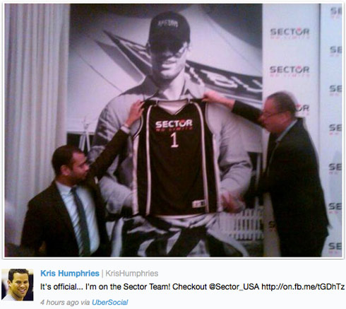 Kris Humphries announced as the new face of Sector No Limits watches